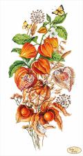 Тэла Артис | Осенний физалис. Размер - 24 х 45 см