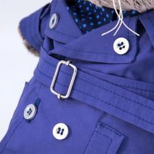 """Одежда для кота Басика в подарочной упаковке """"Тёмно-синий плащ и галстук"""""""