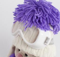 Зайка Ми Лыжник, мягкая игрушка BudiBasa. Размер - 22 см