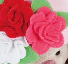 Зайка Ми в шапочке с цветами, мягкая игрушка BudiBasa