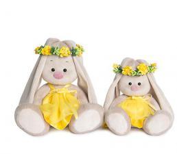 Зайка Ми в веночке и жёлтом платье, мягкая игрушка BudiBasa