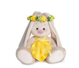 Зайка Ми в веночке и жёлтом платье. Размер - 18 см.