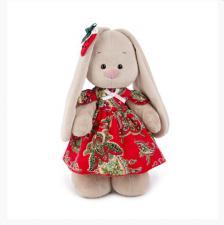 Зайка Ми в красном платье и с клубничкой. Размер - 25 см.