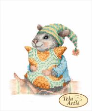 Тэла Артис | Мышка-сплюшка. Размер - 13 х 15,5 см