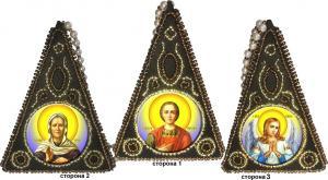 "Вышиваем бисером | Пирамидка ""Триптих"" L-154"