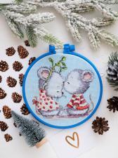 Абрис Арт | Влюблённые мышата. Размер - 15 х 15 см