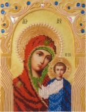 А-строчка   Казанская икона Божией Матери. Размер - 19 х 25 см