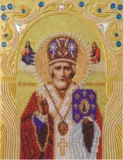 А-строчка   Святой Николай Чудотворец. Размер - 19 х 25 см