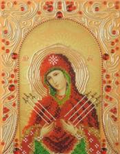 А-строчка   Семистрельная Пресвятая Богородица. Размер - 19 х 25 см