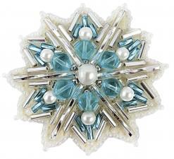 """Набор для изготовления броши Crystal Art """"Снежинка"""". Размер - 5 х 5,5 см"""