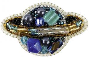 """Набор для изготовления броши Crystal Art """"Планета"""". Размер - 6 х 3,5 см"""
