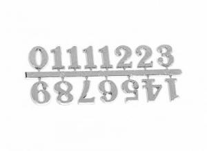 Цифры арабские, пластик, цв.серебро 15мм