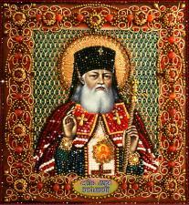 Образа в каменьях | Святитель Лука Крымский. Размер - 25 х 23 см