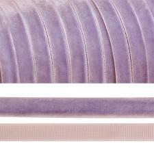 Лента бархатная арт.TBY.LB1073 нейлон шир.10 мм цв.сиреневый