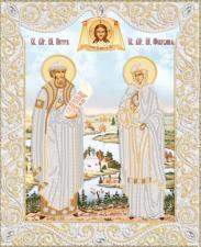 Маричка | Пётр и Феврония (серебро). Размер - 26 х 32 см