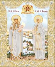 Маричка | Пётр и Феврония (золото). Размер - 26 х 32 см