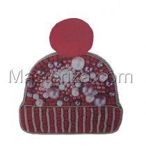 А-строчка | Набор для вышивания броши (подвеса) Шапочка розовая. Размер - 5,5 х 6 см