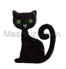 А-строчка | Набор для вышивания броши (подвеса) Котик. Размер - 5,8 х 6,8 см