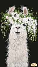 Тэла Артис | Лама в венке. Размер - 24 х 42 см