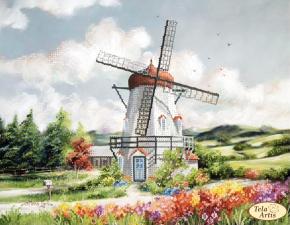 Тэла Артис | Ветряная мельница. Размер - 31 х 24 см