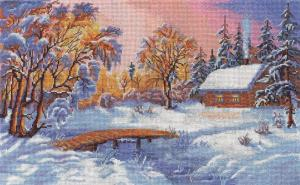 Панна   Зимняя сказка. Размер - 43,5 х 27 см