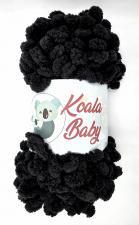 Пряжа Koala baby (100% полиэстер, 180 гр/16,7 м),114 чёрный