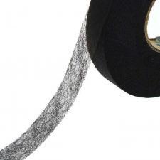 Паутинка термоклеевая чёрная,рулон 100 м