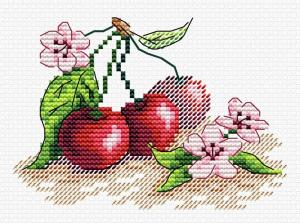 "Набор для вышивания крестиком ТМ ""Жар-Птица"" ""Сочная вишня"". Размер - 11 х 9 см"