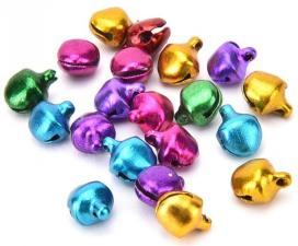 Бубенчики для декора 6мм TBY.120626-3 цв.разноцветные,100 шт.