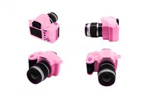 Фотоаппарат со вспышкой арт.КЛ.28361 45х25х50мм, цв.розовый