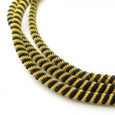 Канитель мягкая, витая 3,5 мм,цвет №01 матовый (золото+чёрный),5 г