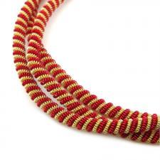 Канитель мягкая, витая 3,5 мм,цвет №02 матовый (золото+красный),5 г
