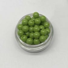 Бусины пластиковые круглые,цвет 11 (оливковый),6 мм,уп.80 шт