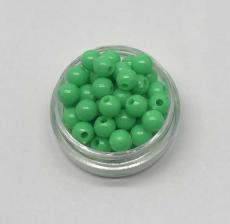 Бусины пластиковые круглые,цвет 22 (зелёный),6 мм,уп.80 шт