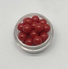 Бусины пластиковые круглые,цвет 04 (красный),8 мм,уп.80 шт