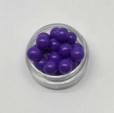 Бусины пластиковые круглые,цвет 05 (фиолетовый),8 мм,уп.80 шт