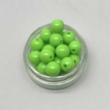 Бусины пластиковые круглые,цвет 10 (салатовый),8 мм,уп.80 шт
