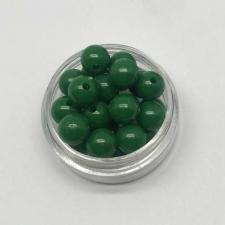 Бусины пластиковые круглые,цвет 12 (тёмно-зелёный),8 мм,уп.80 шт