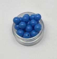 Бусины пластиковые круглые,цвет 15 (синий),8 мм,уп.80 шт