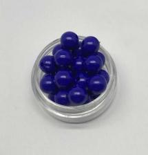 Бусины пластиковые круглые,цвет 16 (василёк),8 мм,уп.80 шт