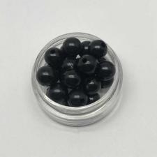Бусины пластиковые круглые,цвет 18 (чёрный),8 мм,уп.80 шт