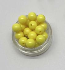 Бусины пластиковые круглые,цвет 23 (лимонный),8 мм,уп.80 шт