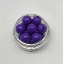 Бусины пластиковые круглые,цвет 05 (фиолетовый),10 мм,уп.40 шт