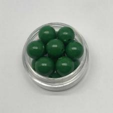 Бусины пластиковые круглые,цвет 12 (тёмно-зелёный),10 мм,уп.40 шт
