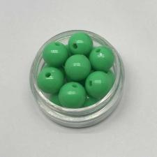 Бусины пластиковые круглые,цвет 22 (зелёный),10 мм,уп.40 шт