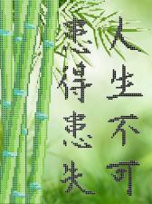 "ТМАнгелика | Схема без бисера ""Бамбук"". Размер - 21 х 28 см"