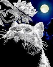 Арт Соло | Кот с веточкой. Размер - 20,5 х 25 см