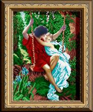 Арт Соло | Влюблённые на качелях. Размер - 28 х 38 см