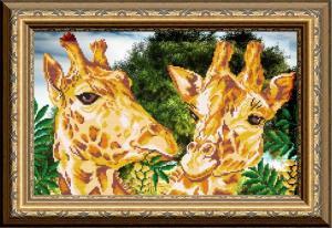 Арт Соло | Жирафы. Размер - 38 х 27 см
