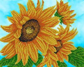 Цветок солнца. Размер - 32 х 26 см.